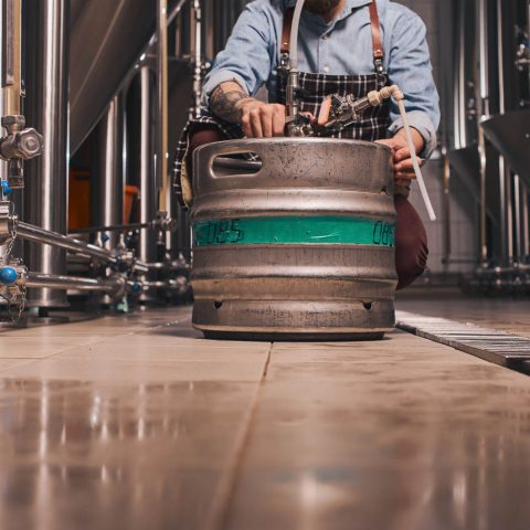 Stainless steel beer keg at dakota beer pub brewey argyroupoli elliniko region - 12